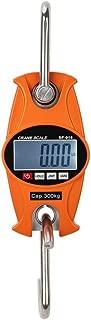 Mini Digital Crane Scale/Hanging Scale 300kg/600lbs SF-918 with Accurate Sensor, Large Illuminated LCD Display(Aluminum Housing, Orange)