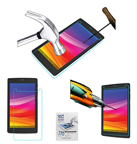 Acm Tempered Glass Screenguard Compatible with Micromax Canvas Tab P702 Screen Guard Scratch Protector
