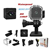Waterproof Mini Cam Sansnail SQ12 HD Sport Action Cam Night Vision Camcorder 1080P DV Video Recorder Infrared Car DVR Camera Motion Detection for Bicycle Motorcycle Ski Diving Snorkeling