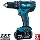 Makita DHP482BL1830 DHP482Z Combi Drill 18V Cordless LXT Li-ion with BL1830 3.0Ah Battery, 18 V, Blue, Small, Set of 2 Pieces