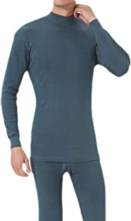 Macondoo Men's Long John Set Turtle Neck Long Sleeve Winter Thicken Thermal Underwear