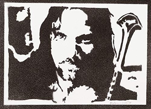 Aragorn Poster Der Herr der Ringe Plakat Handmade Graffiti The Lord of the Rings Street Art - Artwork