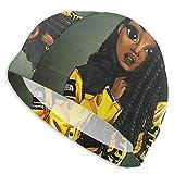Swim Cap Black Art African American Girl Afro Girls Swimming Hat for Adult Unisex Bathing Cap Swimming Pool Big Head Hair for Men Women