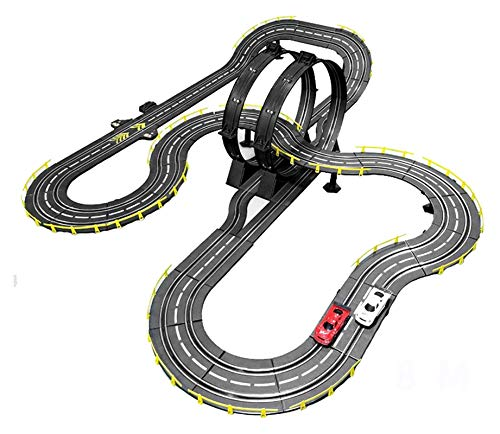 YYQIANG Slot Car Vehicle Sets Race Sets Track Racing Toy Remoto Control Agar Garaje Toy Puzzle Assembly Doble tragamonedas Pista competitiva Coche Cumpleaños Aficiones Infantiles