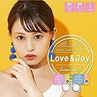 ラブアンドジョイ バイ スウィートハート マンスリー 【1箱2枚入】 カラコン 14.0mm Love&Joy by SweetHeart 1ヶ月 1month (ラブオリーブ/-8.00)