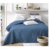 JEMIDI Tagesdecke 200cm x 220cm Bettüberwurf Bettüberwurf Sofaüberwurf Bett Decke gesteppt Tages Tagesdecken Betthusse (Blau)