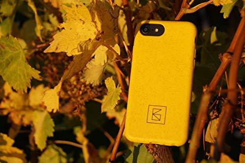 Infenity Bio-case: biologisch abbaubare, recyclebare, nachhaltige, kompostierbare, Flexible Smartphonehülle. Kompatibel mit iPhone 6, iPhone 6s, iPhone 7, iPhone 8, iPhone SE 2, gelb