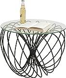 KARE Mesa Auxiliar Wire Ball, Negro, 45 x 60 x 60 cm, Metal