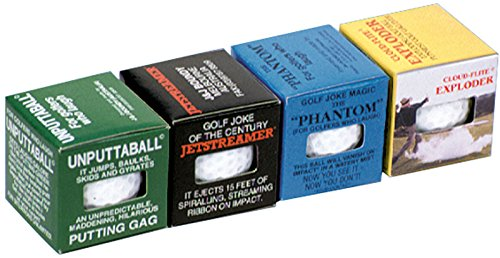 Loftus The Awesome Foursome Prank Gift, The Worlds Best Trick Golf Balls, 4 Pack