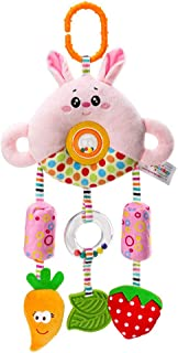 Baby Infant Cartoon Animal Hanging Bell Rattle Teether Sound Stroller Plush Toy