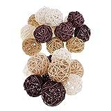 F fityle 25x bolas de mimbre de ratán natural artesanía manual decoraciones de jarrán transparente color diferente