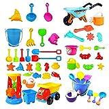 KAYIMGIRE Giocattoli da Spiaggia per Bambini, Giocattoli per Spiaggia Sabbia pozzo con Secchio Spade Castle stampi, Giocattoli da Spiaggia Set per Ragazzi e Ragazze