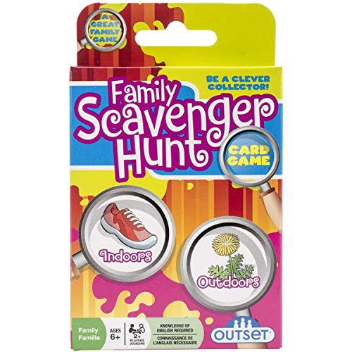 Family Scavenger Hunt Card Game by Outset Media- Travel Friendly Indoor and Outdoor Family Scavenger Hunt - Ages 6+