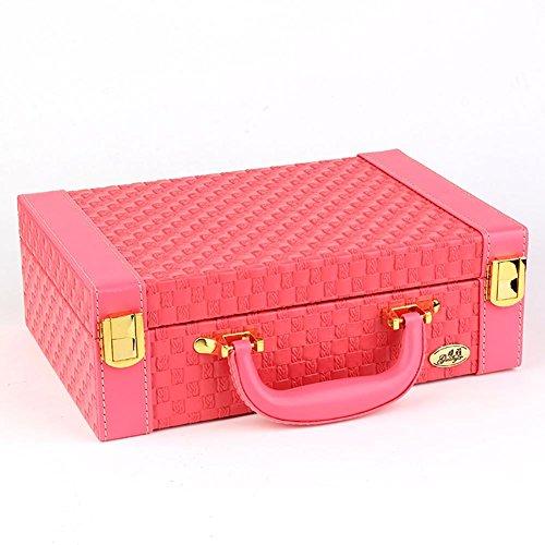 Bijoux Boîte Collier Anneau Bracelet Stockage Titulaire Cas Cadeau 27 * 18.5 * 9 CM (LxPxH) , rose red , 27*18.5*9
