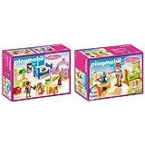 Playmobil 5306 - Buntes Kinderzimmer &  5304 - Babyzimmer mit Wiege