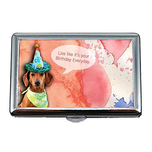 ファッションビジネスタバコボックス、フレンチブルドッグパピー犬かわいいペット犬b q、クレジットカードプロテクター