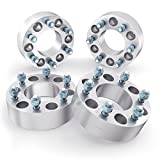 RockTrix 1.5 inch Wheel Adapters Converts 6x135 to 6x5.5 (Changes Bolt Pattern) 87.1mm Bore, 14x2 Studs, Fits 2003-2014 Ford Expedition F150 Lincoln Navigator - 6x135 to 6x139.7 Silver Spacers - 4pcs