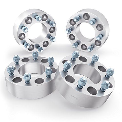 RockTrix 1.5 inch Wheel Adapters 6x135 to 6x5.5 (Changes Bolt Pattern) 87.1mm Bore, 14x2 Studs, Compatible with 2003-2014 Ford Expedition F150 Lincoln Navigator - 6x135 to 6x139.7 Silver Spacers 4pcs