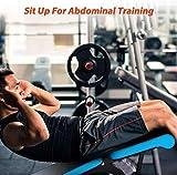 D-TECH Fitness Verstellbare Hantelbank für Heimtraining, Fitnessstudio, Gewichtheben, Sit-Up,...