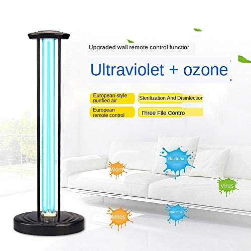 Find Discount UV Disinfection Lamp High Power Ultraviolet Germicidal Light, Portable Sanitizer Light with Remote Control, Sterilization Light for Car Hotel Living Room Bedroom (Color : No Ozone, Size : 150W)