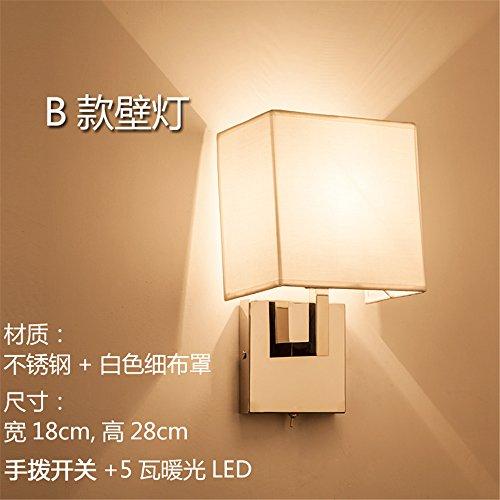 YU-K Modern huis muur bedlampje slaapkamer woonkamer mode op dimmer met afstandsbediening ideaal voor huis bar en restaurant cafe club