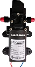 CYBERNOVA DC12V 131PSI 6L/m agua dulce de agua de alta presión de diafragma autocebante Bomba de camping / Barco / RV / jardín/Limpieza de vehículos / autocaravanas(6L/ m)