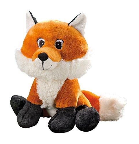 GLOREX 0 4637-1 - Kuscheltier zum Selberstopfen Fuchs Foxi, ca. 23 cm groß, aus hochwertigem Plüsch genäht, muss nur noch befüllt werden, mit Geburtsurkunde