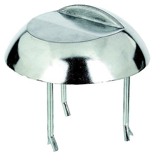 GAH-Alberts 410476 Auflaufstütze, zum Einbetonieren, Aluminiumguss, Ø200 x 30 mm