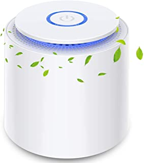 Purificador de Aire Portátil con Filtro HEPA Eficiente, USB Filtro de Aire de Escritorio con Luz Nocturna y Función de Aro...