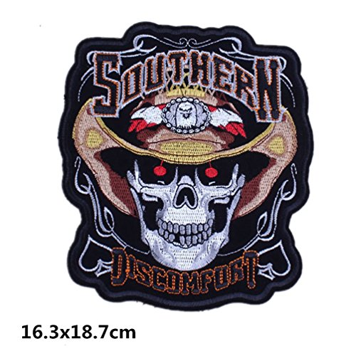 Banner ride Forever SKULL BACK PATCH RICAMATE aufbügler Biker Rocker HARLEY Patch