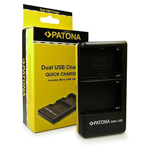 PATONA Cargador Doble para NP-FM500H Bateria Compatible con Sony DSLR-A500 DSLR-A700 DSLR-A900 ILCA-77M2 SLT-A57 SLT-A99