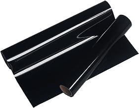 Vinyl Frog 25x155cm PU Negro Hierro en transferencia de calor Vinyl Rolls HTV