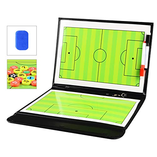 LEAP Magnetic Soccer Coaching Board Coaches Clipboard Tactical Board Kit with Dry Erase, Marker Pen Product Name