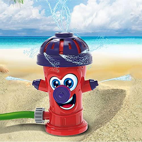 Juguete para chorro de agua, rociador de agua, juguete para niños, playa/césped, juguete de rociador para niños, para jugar al aire libre, verano divertido para los niños (rojo)