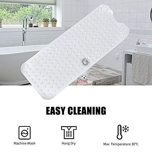 Ying-feirt Extra Lange Badmat Anti-Slip Tub Mat met Zuignappen 100 * 40cm lange PVC Douchemat Medium Bule