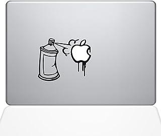 "The Decal Guru Graffiti Apple Spray Can Decal Vinyl Sticker, 11"" MacBook Air, Black (1637-MAC-11A-BLA)"