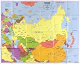 Historic Prints 18' x 24' 2006 Map of Eurasia & Countries Within