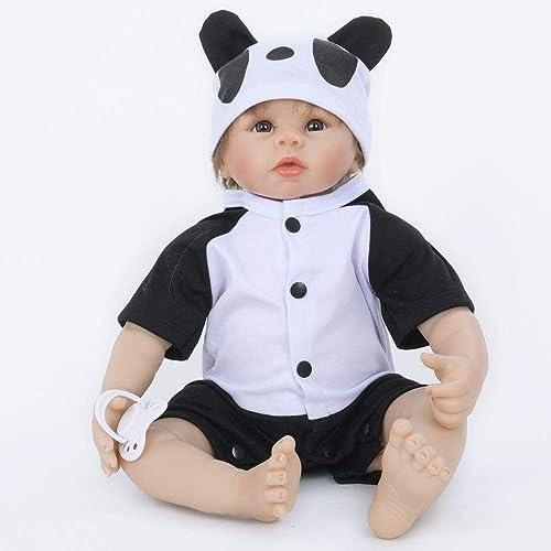 Hongge Lebensechte Silikon Reborn Puppe Spielzeug Sieht real Newborn Puppe Spielzeug Geschenk 55cm