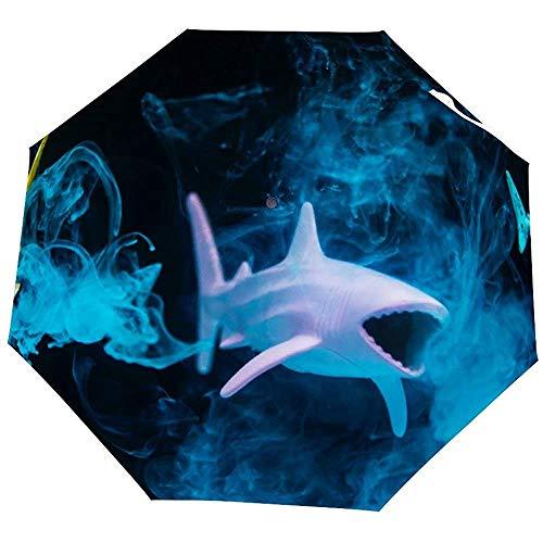 Reverse Inverted Windproof Aquarium Art Künstlerischer Fischtierschirm - Umgedrehte Regenschirme mit C-förmigem Griff