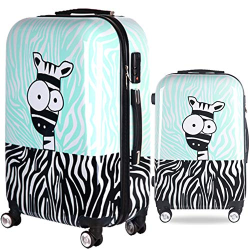 Great Features Of Spinner Suitcase Cartoon Donkey Printing Hardshell 2 Piece Spinner Kids Luggage Ne...
