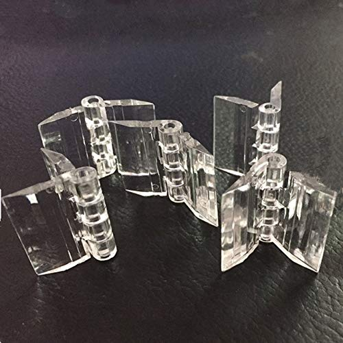 Transparante kunststof acryl 25mm doorlopend pianoscharnier 5-pak, geschikt voor doe-het-zelf transparante doos, beeldscherm, enz.
