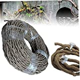 CULER 1pc Reptiles Vivarium Flexible Terrarium Reptile Jungle Vines Flexible Bendable Vignes Décor Grimpeur Habitat Accessoires 100cm