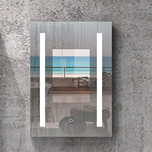 AicaSanitär LED Spiegelschrank mit Steckdose 50×70, 80×60 cm Touch/Infrarot-Sensor Beschlagfrei 2
