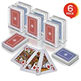 Gamie 2.5 Inch Mini Playing Cards - Pack of 6 Decks - Miniature Card Set - Small Casino Game Cards for Kids, Men, Women - Novelty Gift, Magic Party Favor for Boys Girls, Decoration Idea
