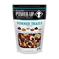 Power Up Trail Mix, Summer Trails Trail Mix, Non-GMO, Vegan, Gluten Free, No Artificial Ingredients, Teal, 13 Ounce