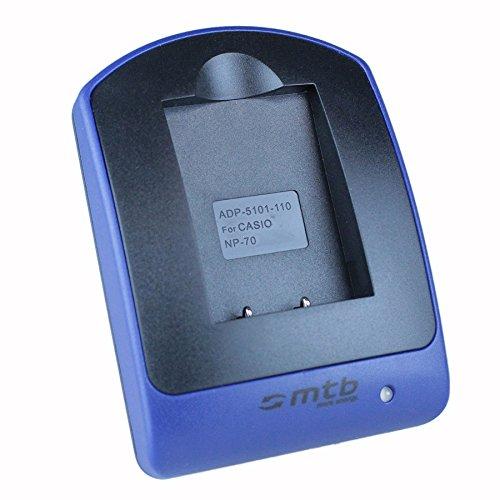 Cargador (Micro-USB, sin Cables/adaptadores) para Casio NP-70 / Exilim EX-Z150, Z155, Z250