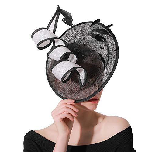 Jklj Pince à Cheveux Coiffe De Plumes Femmes Bandeau à Plumes Net Flower Hairpin Cocktail Party Hat Rétro