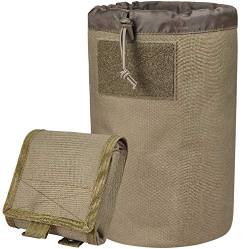 ACETAC Mega Roll Up Pouch Dump Pouch Drawstring Magazine Tactical Utility Pouch, MOLLE System Compatible & Belt Access, Fits Up to 10 30-Round 5.56 PMAGS, and 100+ Mini Shell. (Coyote Brown)