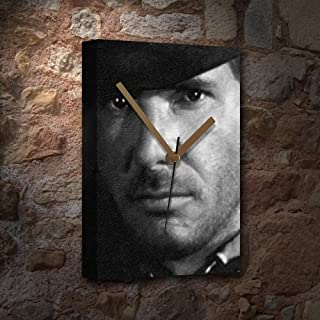 Seasons Harrison Ford - Canvas Clock (Large A3 - Signed by The Artist) #js003