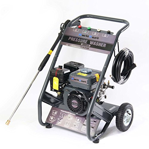 SwitZer Quality 3000 PSI 6.5 HP 4 Stroke OHV Petrol Pressure Washer Jet Washer